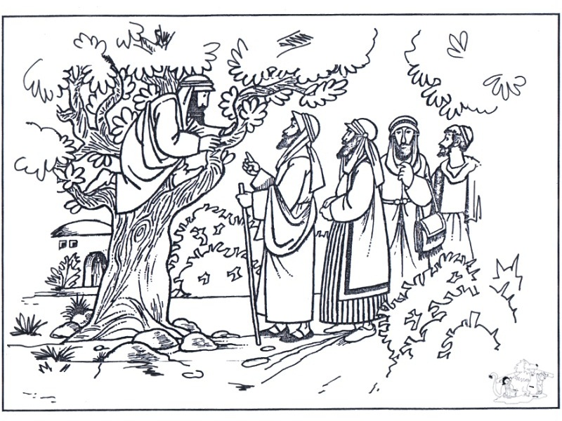zaqueo coloring pages - photo #34