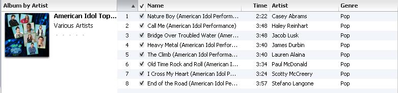 american idol 2011 top 9. American Idol Top 8 Season