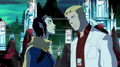 Adam Strange e Alanna em Young Justice: Invasion