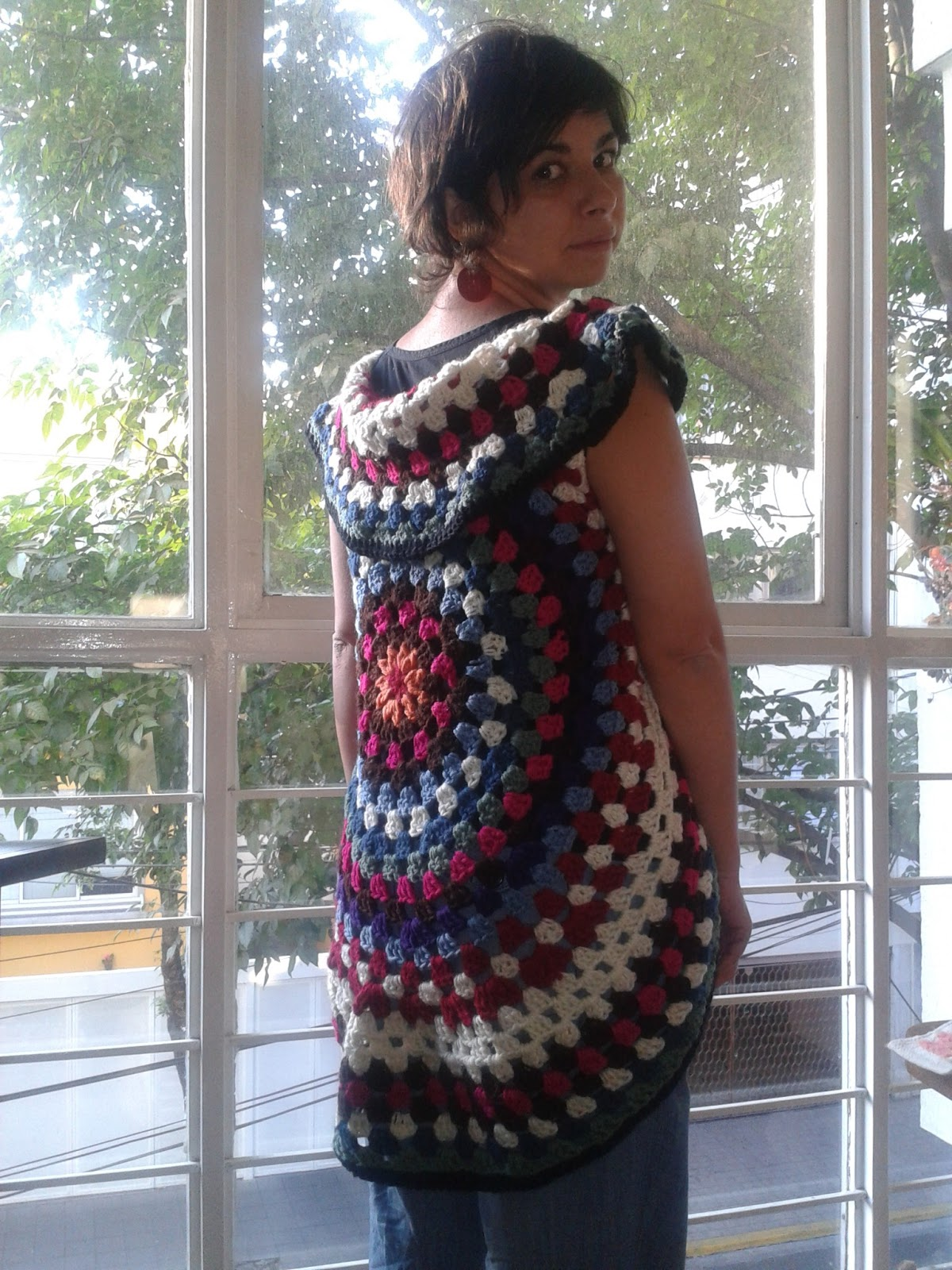 Hecho en casa: Chaleco circular en crochet / crocheted Mandala vest