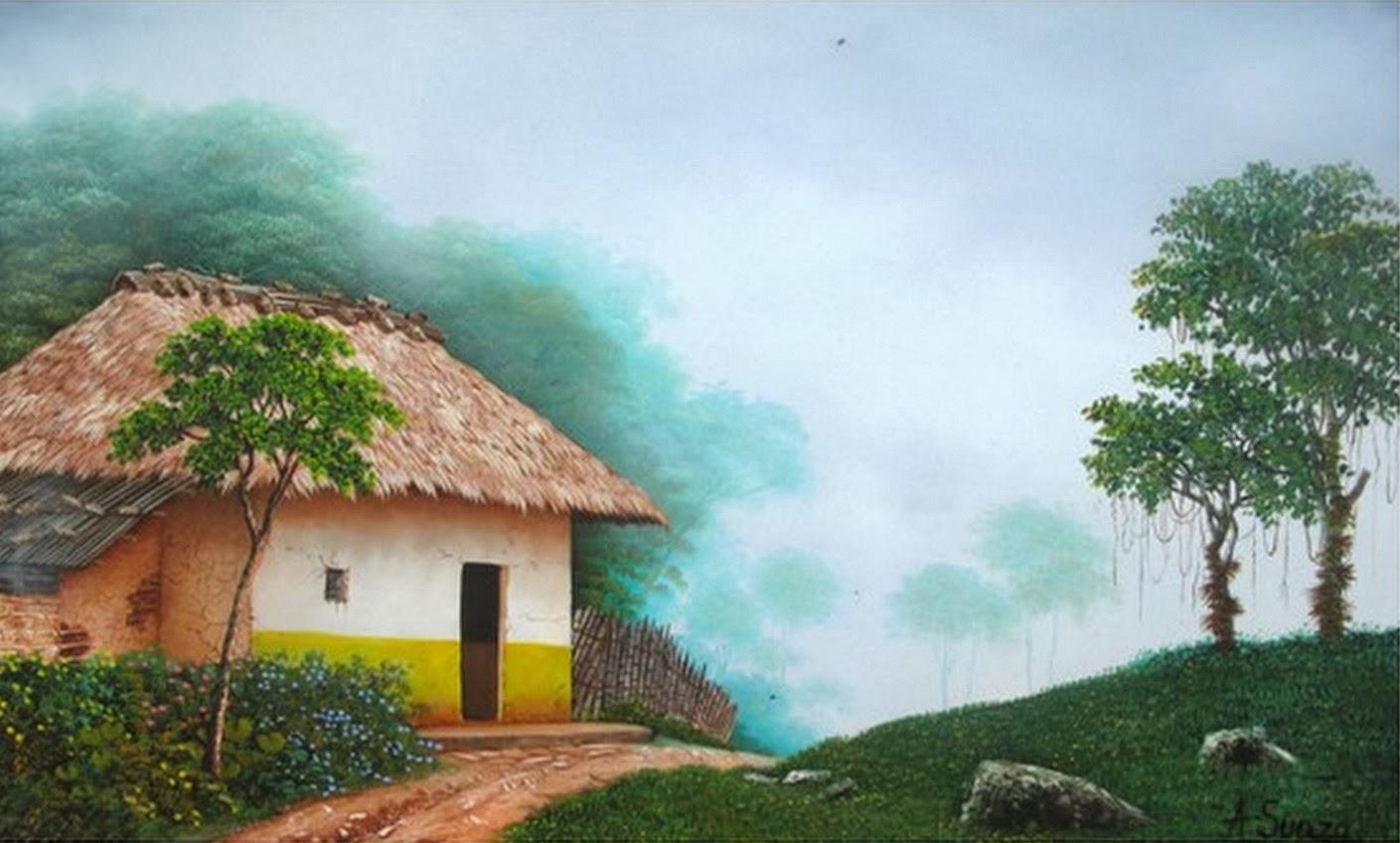 Cuadros modernos pinturas y dibujos galeria cuadros de - Paisajes de casas ...