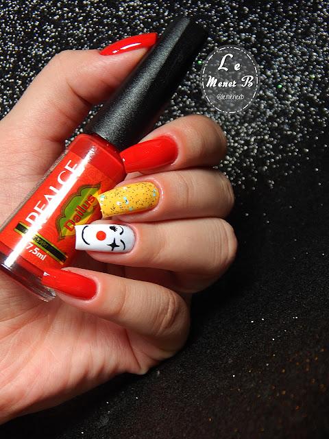 nail art clown