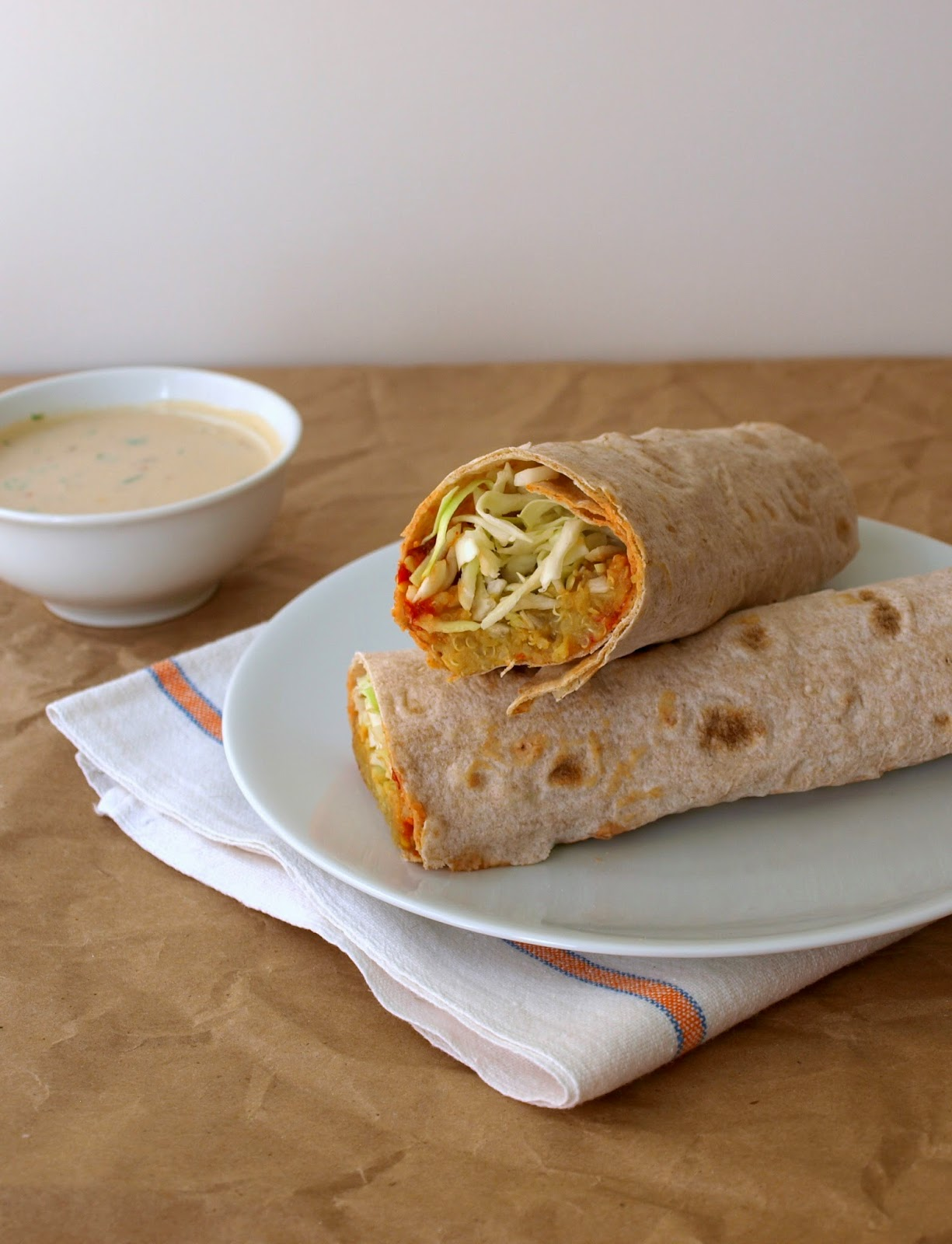 with tahini sauce spicy lentil wrap with tahini sauce recipe yummly ...