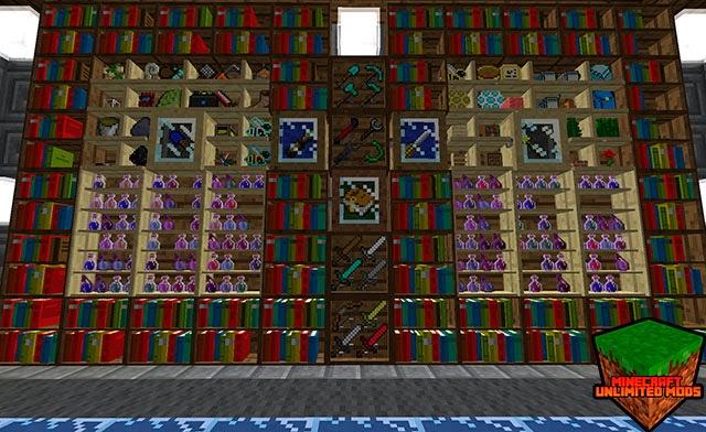 Bibliocraft Mod library