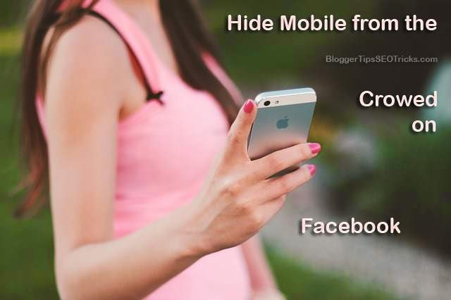hiding your mobile number on facebook