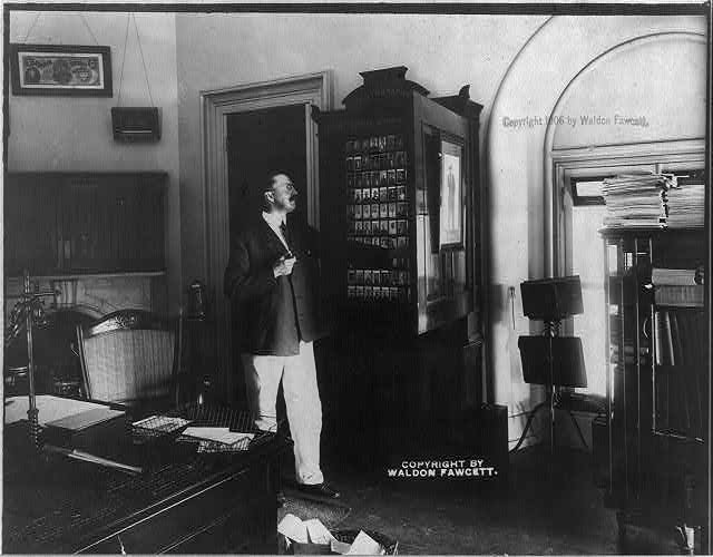U.S. Secret Service Chief John E. Wilkie in his office 1906