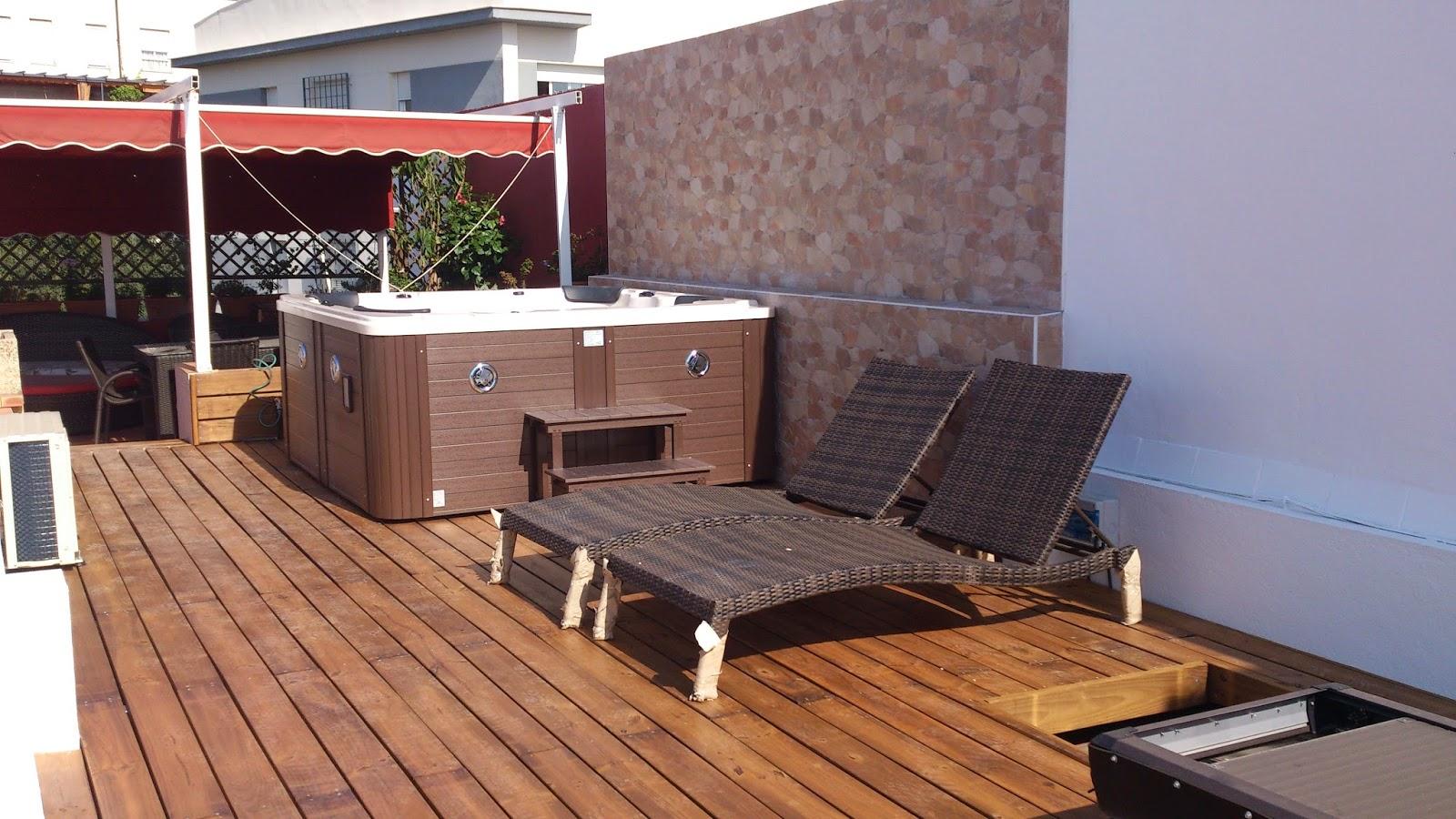 entarimado de madera y colocacion jacuzzi en cubierta
