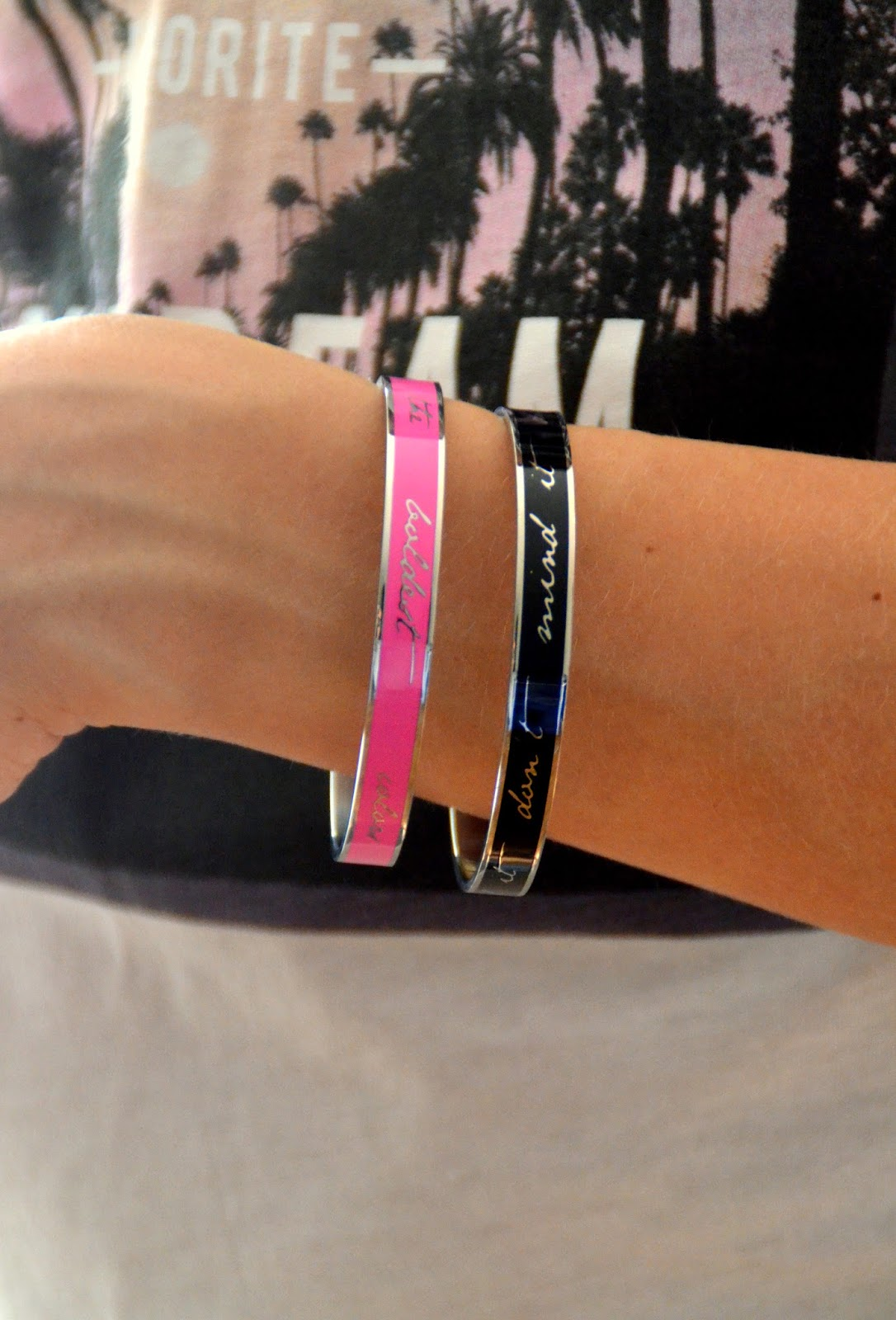 black-hot-pink-bracelets-wishlet