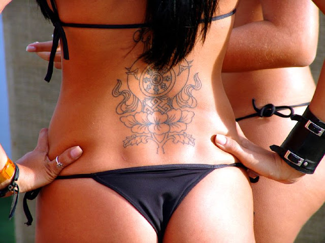 Design bikini tattoo art