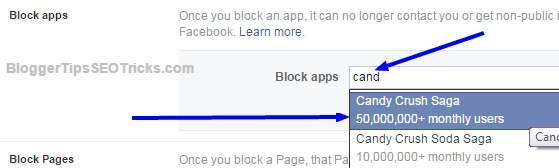 blocking candy crush saga