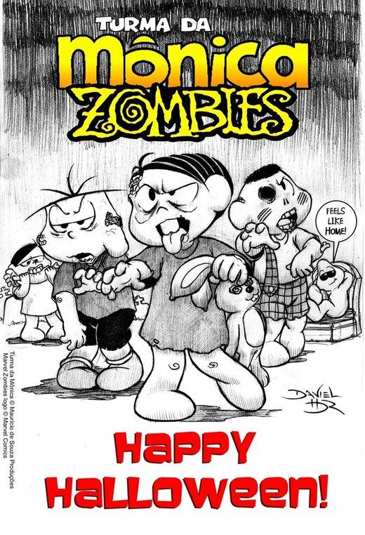 MONICA ZOMBIES Halloween card por danielhdr
