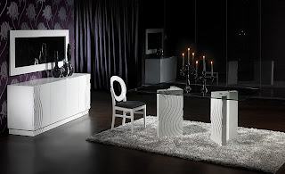 sala jantar preto branco tendencias Salas de jantar em preto e branco