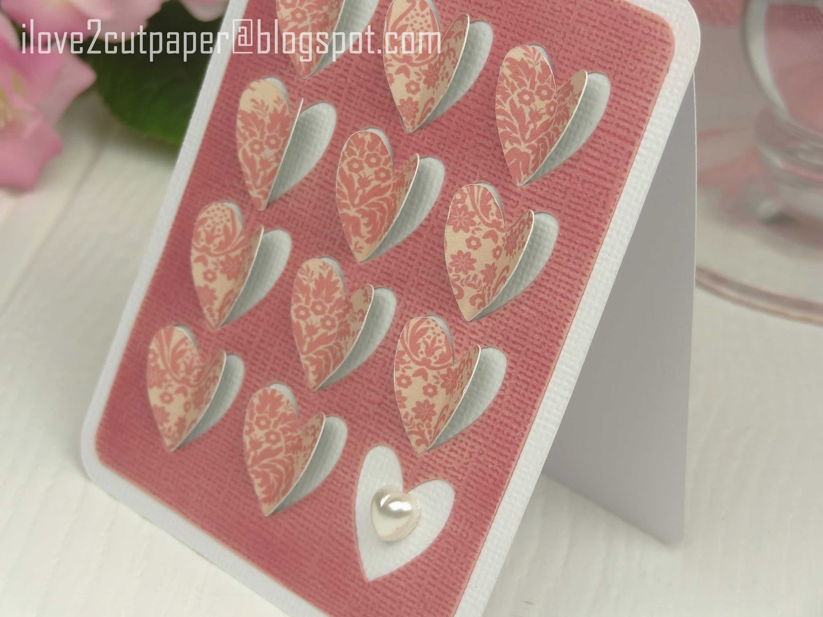 Cut out hearts using Pazzles Inspiration cutting machine