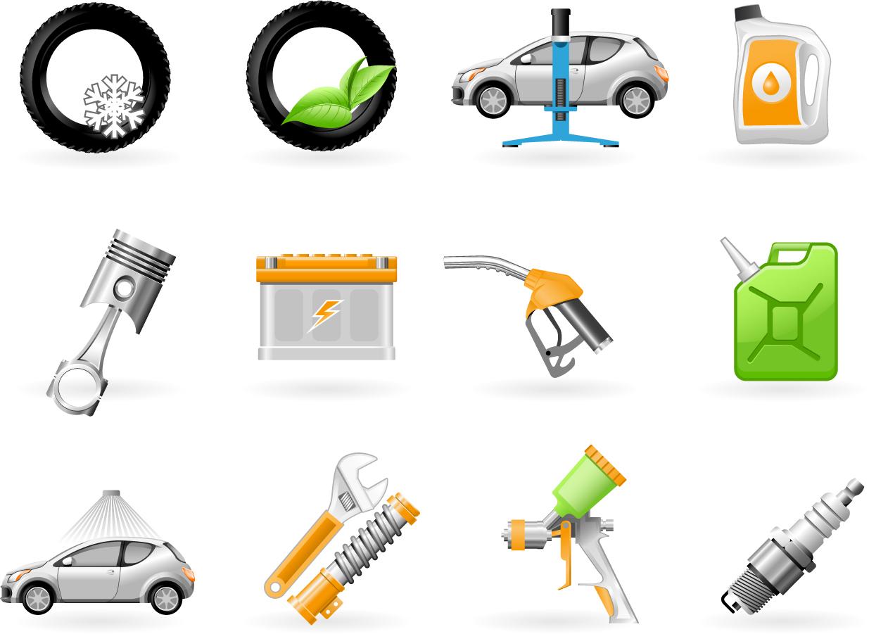 自動車整備のアイコン vehicle maintenance icon イラスト素材