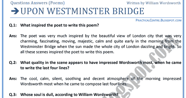 Slough And Composed Upon Westminster Bridge Essay