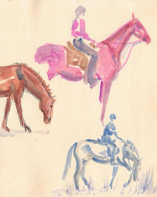 An illustration from 'Ride the Wings of Morning' by Sophie Neville