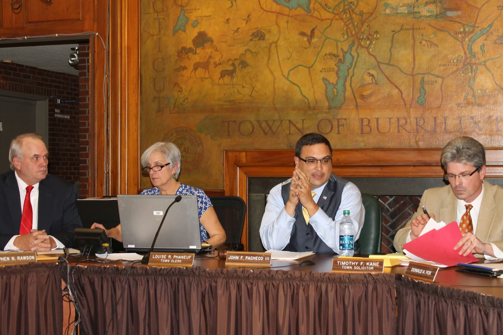 my northwest rhode island burrillville town council and john f pacheco iii takes the gavel for the next two years