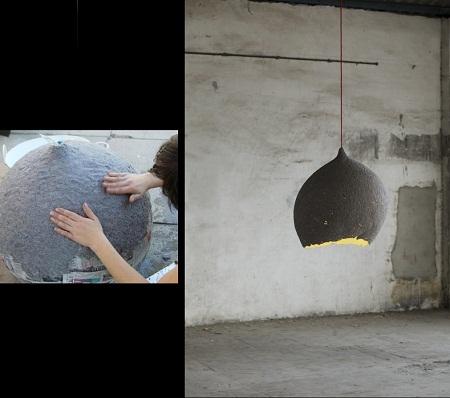 Diez ideas para hacer l mparas reciclando papel - Lamparas de techo de papel ...