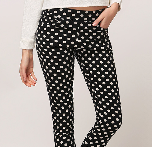 Polka Dot Nap Raising Leggings Pants