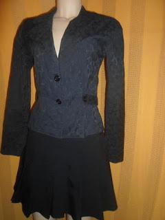 casaco preto manga longa com pequeno brilho algodão com elastano