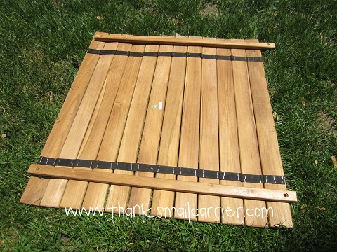 Teak Roll-Up Table 2