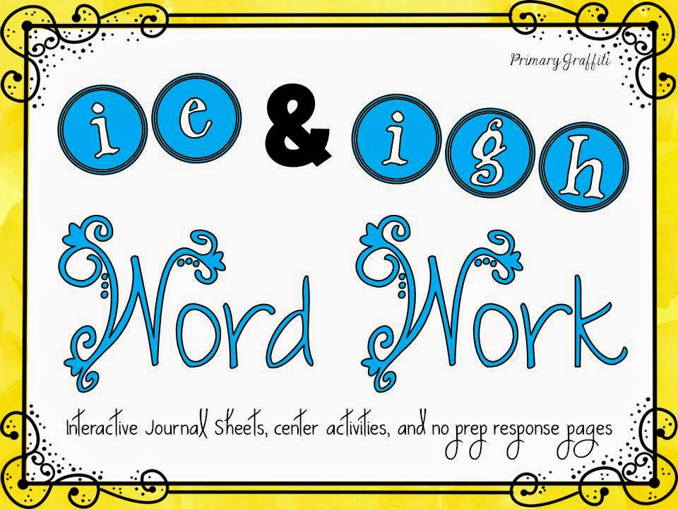http://www.teacherspayteachers.com/Product/Phonics-Word-Work-ie-igh-1237268