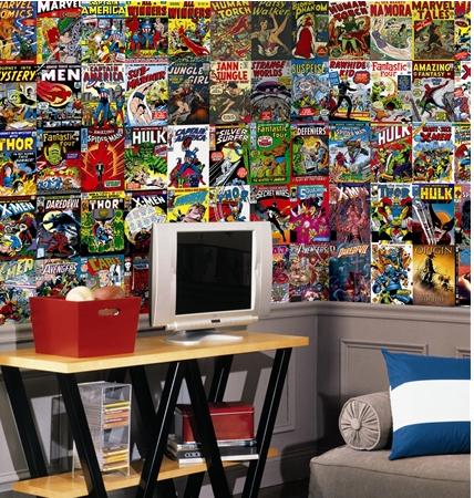Braxton and yancey comic book art rocket fuel for spank me home d cor - Marvel comics decor ...