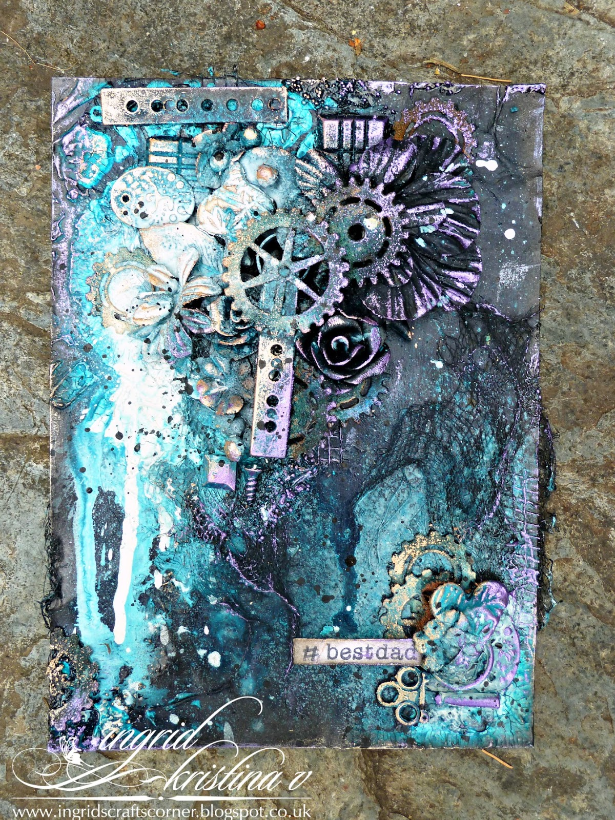 Ikv designs new challenge at mmw masculine father 39 s day for Mixed media canvas art ideas