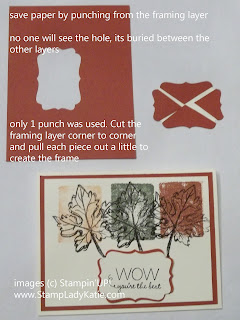 Paper saving tip and a trick to layering with the Decorative Label Punch