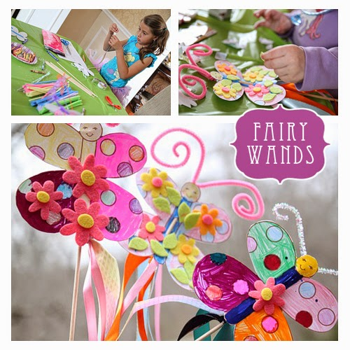 Fun craft ideas for kids birthday party for Princess wand craft kit