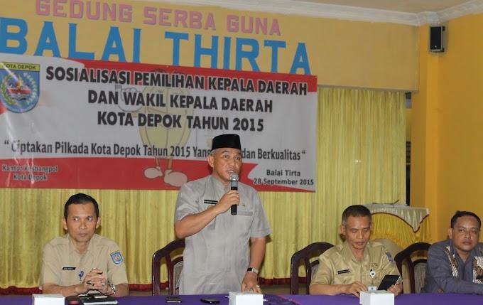 Kesbangpol Sosialisasikan Pilkada Warga Kecamatan Sawangan