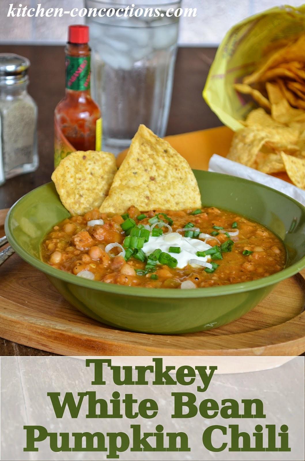 Kitchen Concoctions: Crock-Pot Turkey White Bean Pumpkin Chili