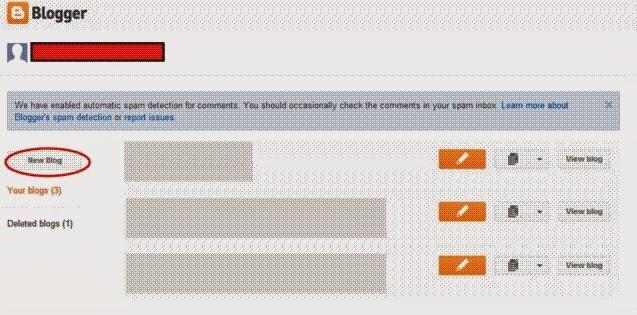 Dashboard blogger - Cara Membuat Blog di Blogspot dengan mudah - login account