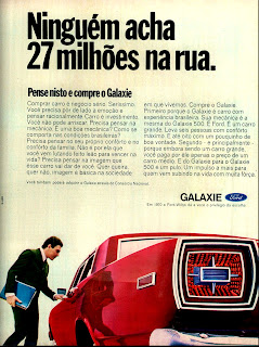 propaganda Ford Galaxie - 1970; os anos 70; brazilian cars in the 70s; Oswaldo Hernandez; década de 70;