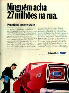 propaganda Ford Galaxie - 1970; os anos 70; brazilian cars in the 70s; Oswaldo Hernandez; década de 70;