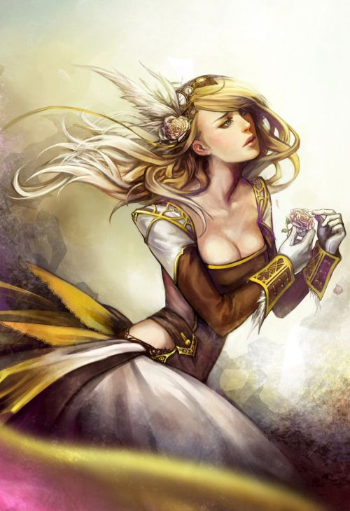 Noa Ikeda deviantart illustrations women female characters fantasy Damsel