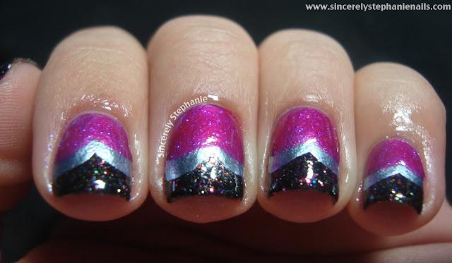 reverse fishtail nail art