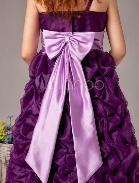 China Wholesale Clothes - Spaghetti Sash Ball Gown Satin Organza Flower Girl Dress