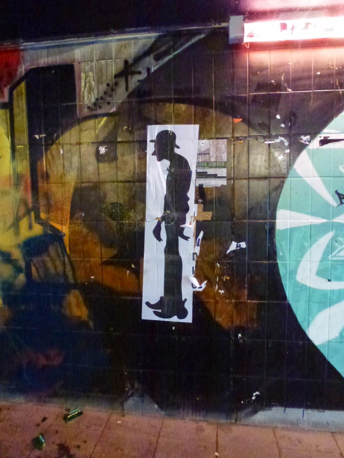 Streetart, Papierarbeit, Stencil