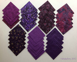 Purple Quilt Fabric Squares