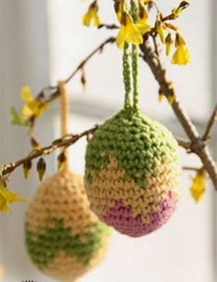 Hobby lavori femminili ricamo uncinetto maglia uova for Lavori all uncinetto per pasqua