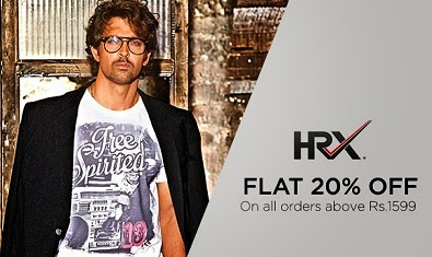 HRX Fashion Styles at Myntra: Enjoy Flat 20% Off + Extra 35% or 33% Off (Valid on Cart Value of Rs.1500 or above)