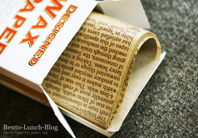 bento lunch blog bedrucktes wachspapier butterbrot. Black Bedroom Furniture Sets. Home Design Ideas
