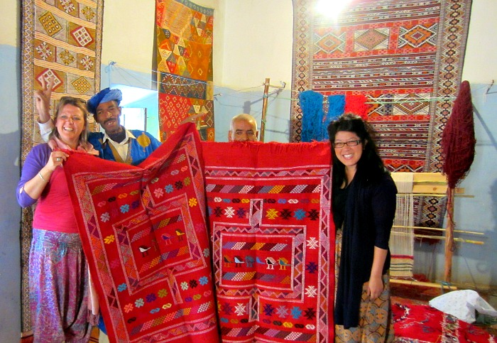 berber bird rug, moroccan rug