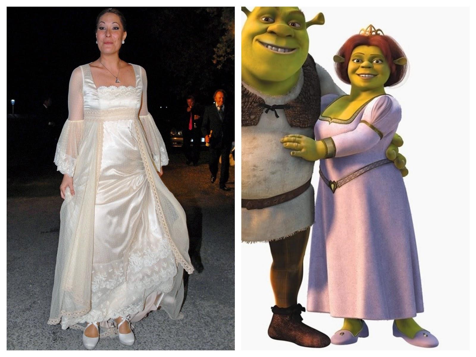 Vestido de novia dela princesa fiona