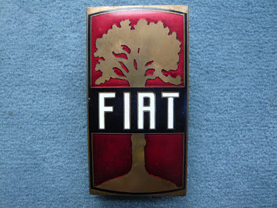 FIAT stemme anticha radiator emblem badge