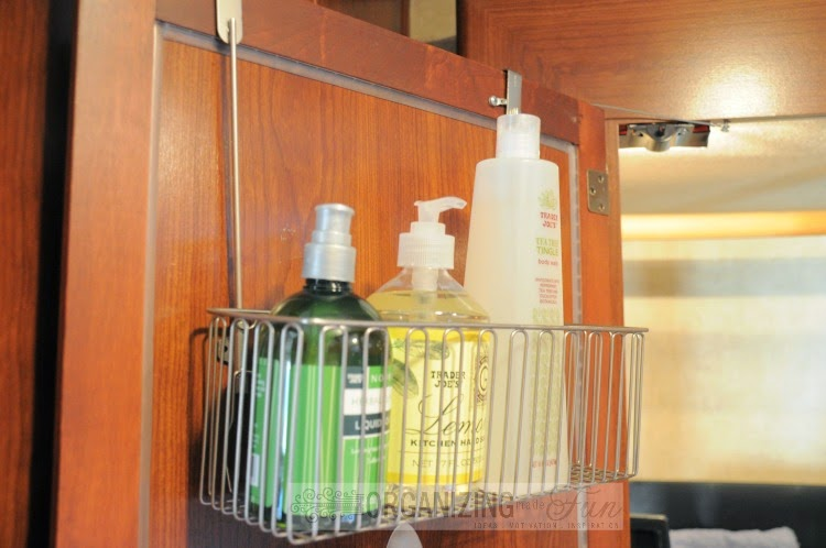 Using cabinet door organizers in an RV work great :: OrganizingMadeFun.com