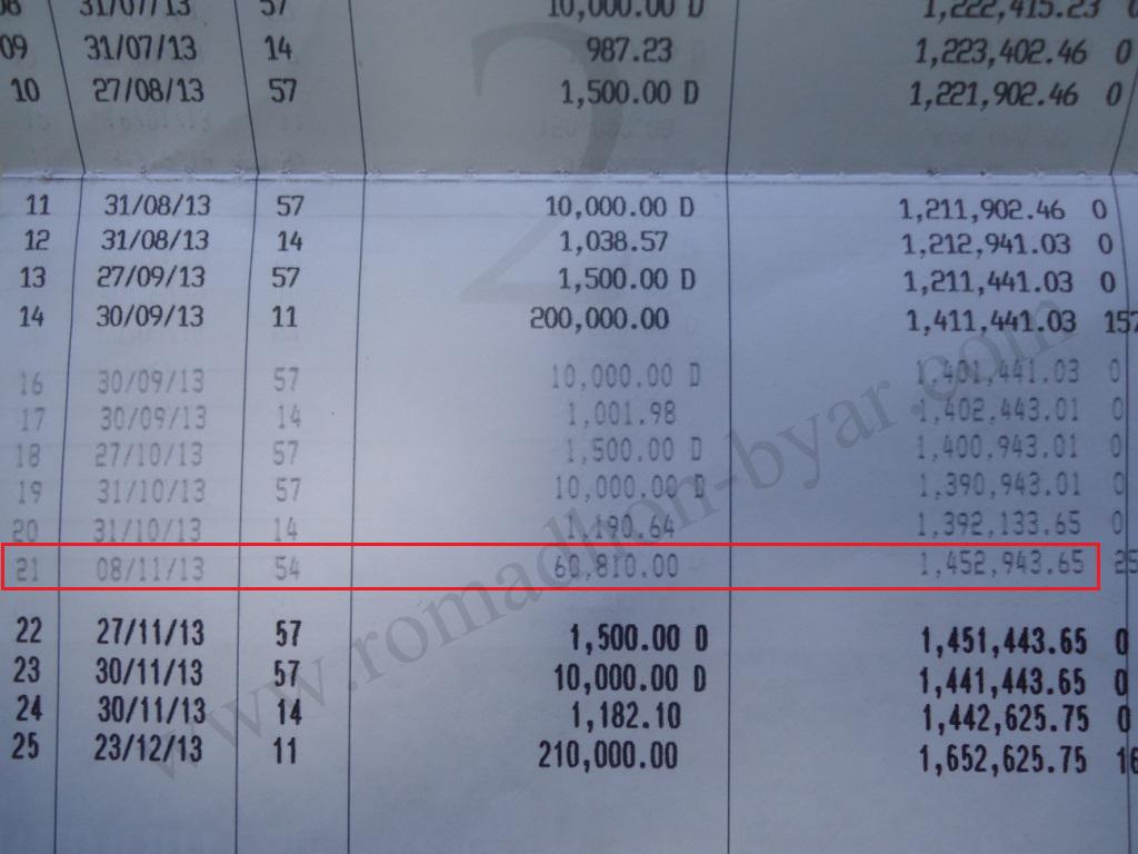 Bukti PO masuk rekening bank - www[dot]romadhon-byar[dot]com