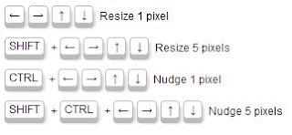 keyboard shortcuts for measureit