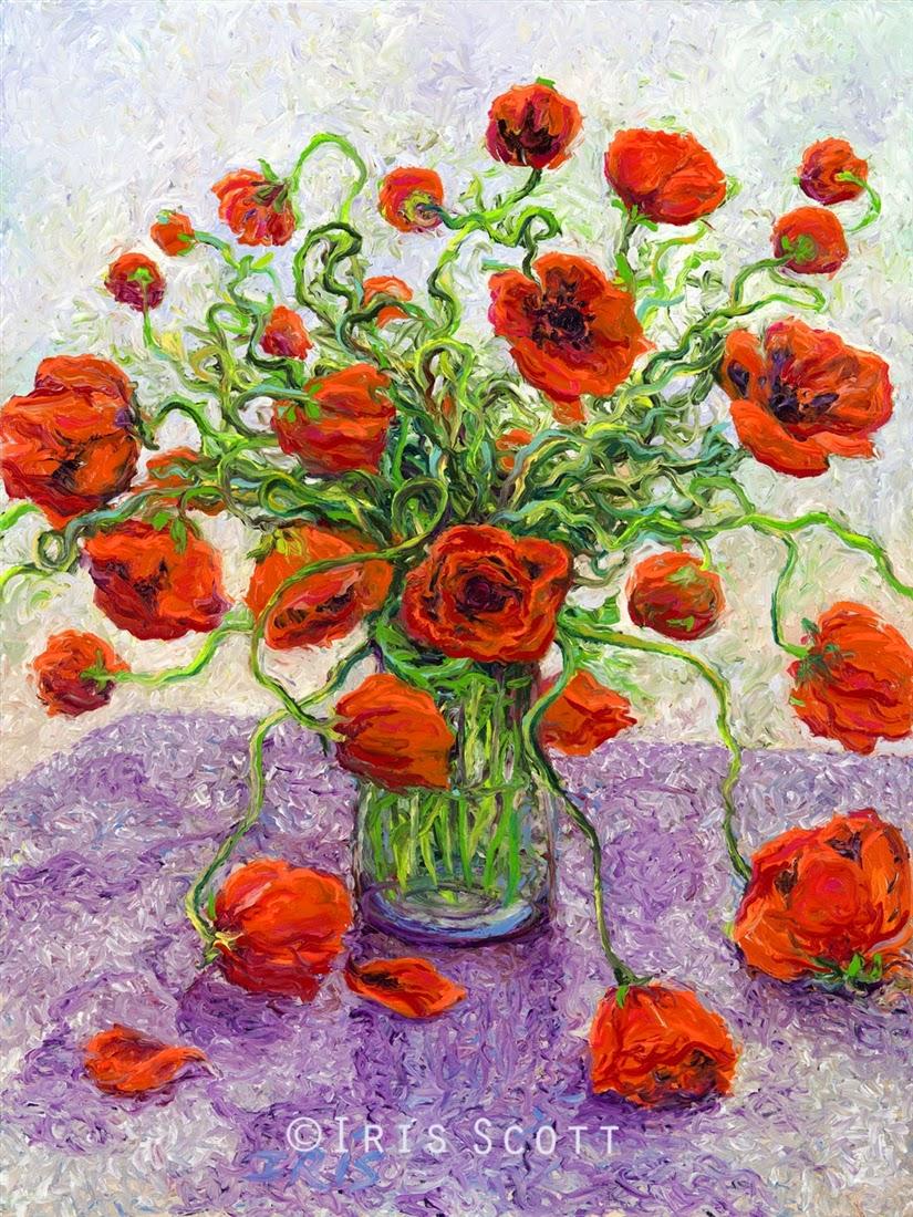 09-The-Color-Poppy-Iris-Scott-Finger-Painting-Fine-Art-www-designstack-co